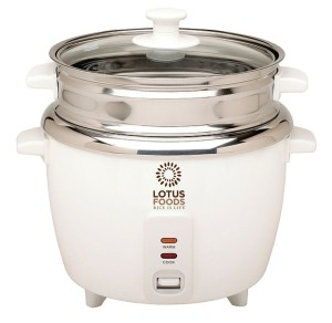Lotus Foods Stainless Steel Rice Cooker and Steamer