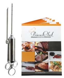 Premium Quality Meat Injector Kit - Stainless Steel 2-Ounce - 28-Page RECIPE BOOK
